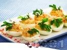 Рецепта Коктейлни хапки - пълнени яйца с риба тон